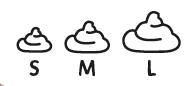 Poop Size Emoji's One Size fits all