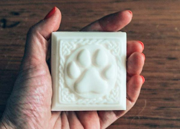 Cleanse your dog's skin with the best natural dog shampoo available, fitting perfectly in your palm.