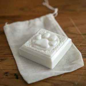The Goats Milk Zero Waste Dog Shampoo bar, gentle on your dog's skin while remaining packaging free!