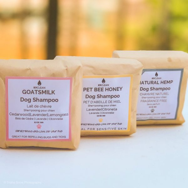 Treat your dog to three different varieties of Zero-Waste All Natural Dog Shampoos from K9 Clean.