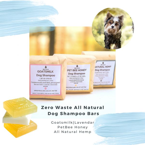 This Multipack has three Zero Waste All Natural Dog Shampoo Bars with natural ingredients without any negative environmental impact.